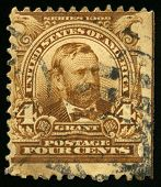 Vintage Us Postage Stamp Of President Grant (1902)