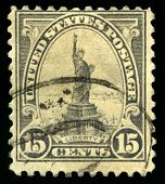 Vintage Us Postage Stamp Of The Statue Of Liberty