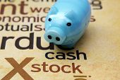 Piggy Bank And Stock Concept