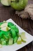 picture of jello  - Fresh made Apple Jello with fresh fruit pieces - JPG