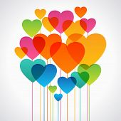 image of valentine card  - Design background of hearts - JPG