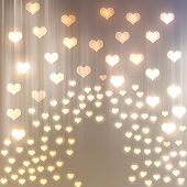 stock photo of wedding feast  - Abstract heart bokeh bright background and place for text - JPG