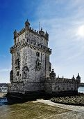 Torre de Belem in Lisbon, Portugal, famous landmark