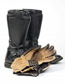 Motorcycle Boots and Gloves.