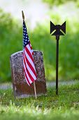 American Flag And Grave01a