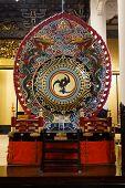 Japanese drum at Tsukiji Honganji Temple in Tokyo