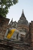 Buddha in ancient taple