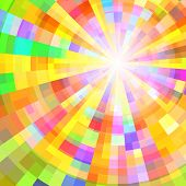 Abstract Colorful Circle Tunnel. Vector Background