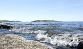 Coast and coastline at UNESCO High Coast Heritage, Sweden.