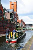 Narrowboat at Brindley Place, Birmingham.