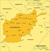 Afghanistan with Surrounding Countries