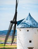 windmill in Campo de Criptana. La Mancha, Spain