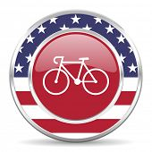 bicycle american icon, usa flag