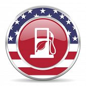 biofuel american icon, usa flag