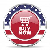 buy now american icon, usa flag