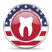 tooth american icon, usa flag