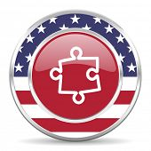 puzzle american icon, usa flag