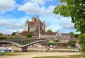 Cathedral st Etienne, abbey st German, (Auxerre Bourgogne France)