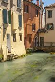 Riverside colourful buildings Treviso