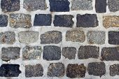 Spotted Cobblestone And Cement Background