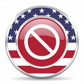 access denied american icon, usa flag