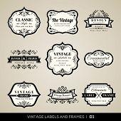 Vintage Labels And Frames