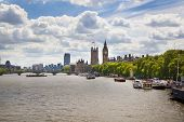 Big Ben and Houses of Parliament on Thames river