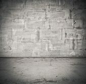 old empty room with concrete wall, interior background