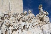 foto of conquistadors  - Monumento a los Descubrimientos in Lisbon - JPG