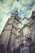 Tower.Cathedral of Toledo, imperial city. Spain