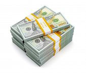 image of bundle money  - Creative business finance making money concept  - JPG