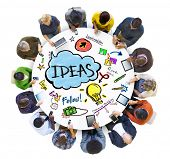 People Social Networking an Ideas Concepts