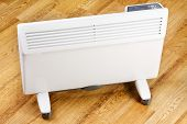 Heating convector in room