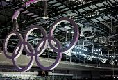 Olympic Rings Hanging In The Ceiling