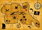 Map of treasure island