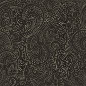 Vintage decorative floral ornamental seamless pattern
