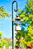 Vintage fashioned rustic kerosene oil lantern lamp