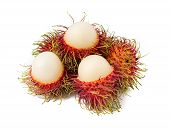 Rambutan Fruit With Red Shell