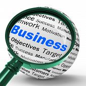 Business Magnifier Definition Means Corporative Transactions And