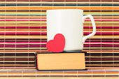 Book, Cup And Heart