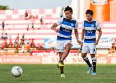 Sisaket Thailand-may 28: Chonlatit Chantakam Of Chonburi Fc. In Action During A Training Ahead Thai