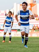 Sisaket Thailand-may 28: Korrakot Wiriyaudomsiri Of Chonburi Fc. In Action During A Training Ahead T