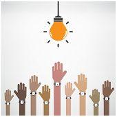 Businessman Hand With Creative Light Bulb