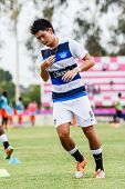 Sisaket Thailand-may 28: Suttinun Phuk-hom Of Chonburi Fc. In Action During A Training Ahead Thai Pr
