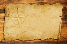 foto of wind-rose  - wind rose on old parchment with copy space - JPG