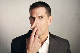 pic of jerks  - Portrait of an adult male person with long nose - JPG