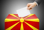 pic of macedonia  - Voting concept  - JPG