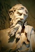 image of philosopher  - Marble sculpture from Venice dating from about 1700 - JPG