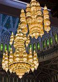 Sultan Qaboos Grand Mosque chandeliers