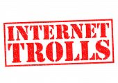 foto of troll  - INTERNET TROLLS red Rubber Stamp over a white background - JPG